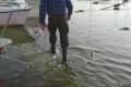 Wysoka woda - wyciąganie jachtów - 4 listopada 2017