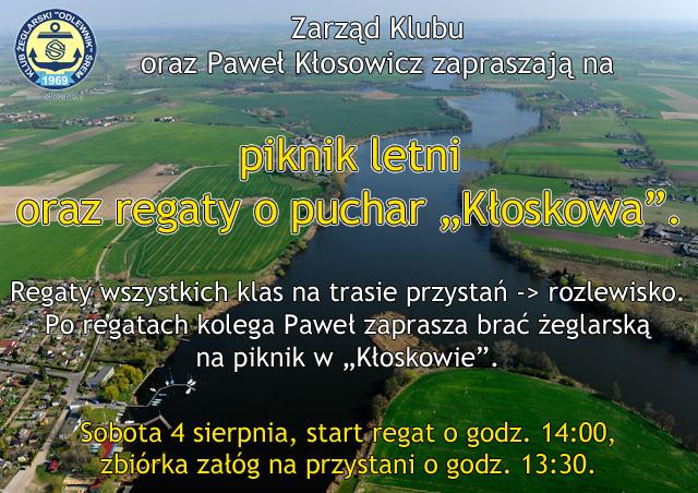 """Piknik letni oraz regaty o puchar """"Kłoskowa""""."""