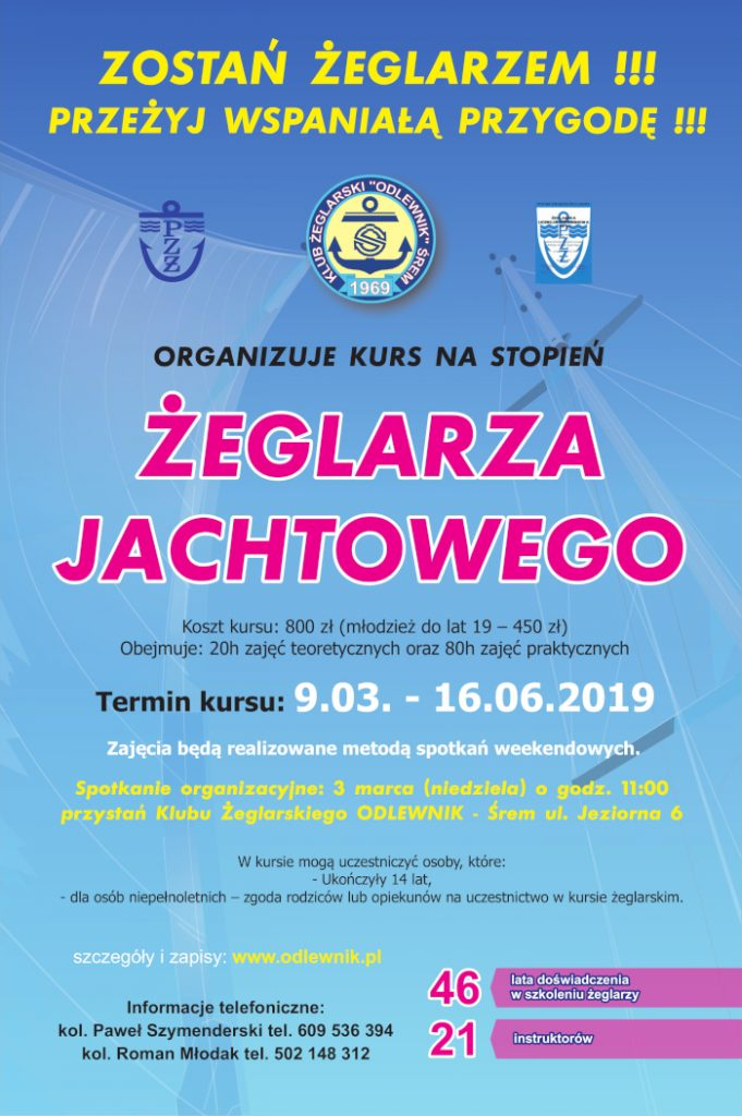 Kurs - Żeglarz Jachtowy 2019